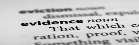 Evidence meaning.